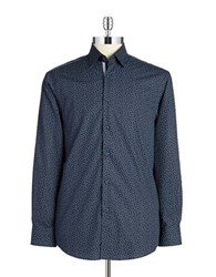Report Collection Patterned Sportshirt Blue