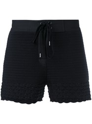 Red Valentino Knitted Shorts Women Cotton Xs Blue