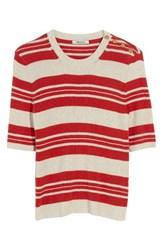 Madewell Women's Ribbed Sweater Top Heather Oat