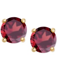 Macy's Rhodolite Garnet Stud Earrings 1 1 5 Ct. T.W. In 18K Gold Plated Sterling Silver