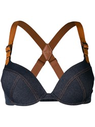 Marlies Dekkers Criss Cross Back Bra Blue