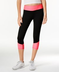 Ideology Colorblocked Performance Capri Leggings Only At Macy's Molten Pink
