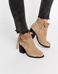 Asos Emma Slouchy Ankle Boots Taupe Beige
