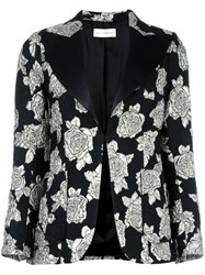 Faith Connexion Floral Brocade Blazer Black
