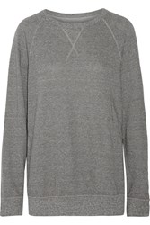 Current Elliott The Oversized Cotton Blend Sweatshirt Gray