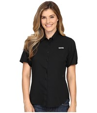 Columbia Tamiami Ii S S Black Women's Short Sleeve Button Up