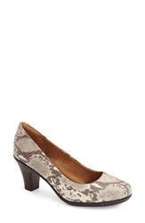 Women's Sofft 'Velma' Leather Pump Sand Leather