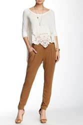 Free People Drapey Pocket Pant Brown