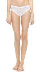 Natori Bliss Lace Girl Briefs White