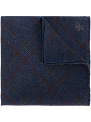 Canali Checked Handkerchief Blue