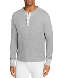Polo Ralph Lauren Military Thermal Long Sleeve Henley Tee Natural Gray Heather