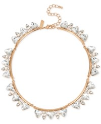Inc International Concepts Rose Gold Tone Large Crystal Collar Necklace Only At Macy's