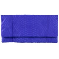Vasilisa Elegant Snakeskin Clutch Royal Blue