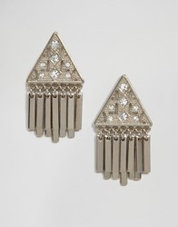 Oasis Tri Fringe Stud Earrings Gold