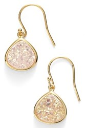 Sonya Renee Drusy Teardrop Earrings White