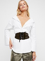 Laurel And Gold For Fp Velvet Lace Up Corset By At Free People