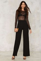 Kool Thing Sheer Jumpsuit Black