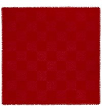 Loewe New Damero Jacquard Scarf Primary Red