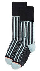 Stance Stripe Up Socks Navy