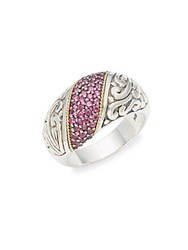 Effy Ruby 18K Yellow Gold And Sterling Silver Ring