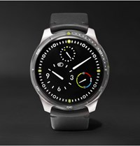 Ressence Type 5 Titanium And Leather Mechanical Watch Black