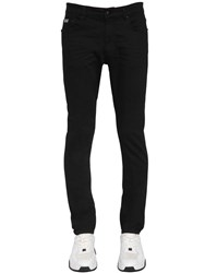 Versace 16.5Cm Skinny Cotton Denim Jeans Black