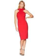 Bebe Bodycon Halter Dress Red