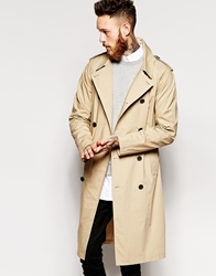 Asos Lightweight Trench Coat Stone