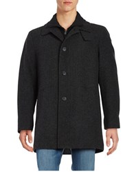 Calvin Klein Double Breasted Pea Coat Charcoal