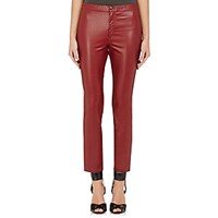 Etoile Isabel Marant Women's Faux Leather Jeffrey Leggings Red Burgundy Red Burgundy