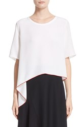 Colovos Women's Asymmetrical Silk Tee
