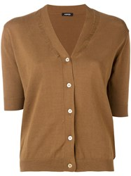 Aspesi V Neck Cardigan Brown
