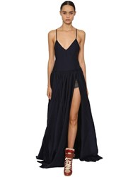 Zadig And Voltaire Backless Light Cady Long Dress Blue