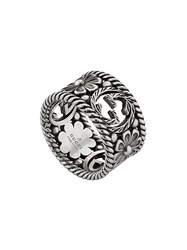 Gucci Gg Motif Ring Silver