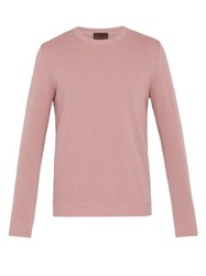 Altea Ribbed Crew Neck Cotton Sweater Pink