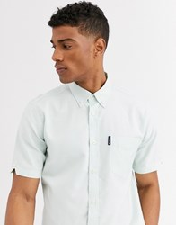 Ben Sherman Short Sleeve Plain Oxford Shirt Green