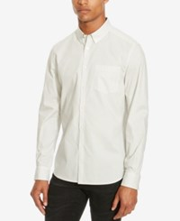 Kenneth Cole Reaction Men's Slim Fit Micro Star Long Sleeve Shirt Dusty White Combo