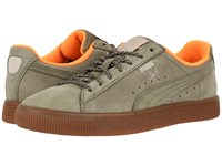 Puma Clyde Winter Burnt Olive Vintage Khaki Men's Shoes