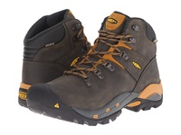 Keen Utility Cleveland Soft Toe Raven Inca Gold Men's Work Lace Up Boots Gray