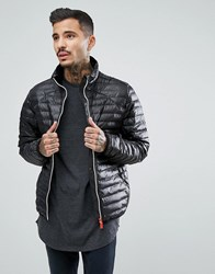 Hunter Padded Mid Layer Jacket In Black Blk
