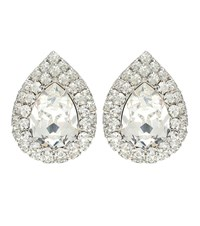 Jennifer Behr Charmaine Crystal Earrings Silver