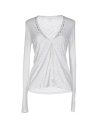 Majestic Knitwear Cardigans Women Light Grey