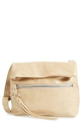 Hobo 'Small Adira' Glazed Leather Crossbody Bag Beige Pumice