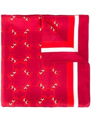 Anya Hindmarch 'Space Invader' Scarf Red