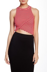 Blvd Striped Crop Sleeveless Tee Multi