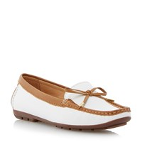Episode Genah Bow Trim Loafer White