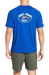 Tommy Bahama Men's Big And Tall Surf City Graphic T Shirt Old Royal