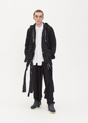 Comme Des Garcons Homme Plus 'S Shred Windbreaker Jacket In Black Size Medium 100 Polyester