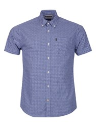 Barbour Hector Micro Gingham Short Sleeve Shirt Navy