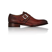 Barneys New York Men's Monk Strap Shoes Brown